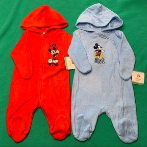🆕 Disney Baby Hooded Footie Bundle